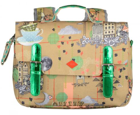 Oilily Playing Cards Flap Backpack Sand