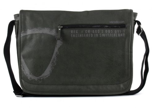 strellson Paddington Messenger LH Dark Green