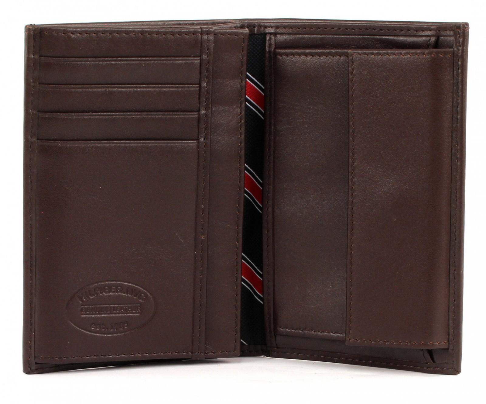 tommy hilfiger purse eton wallet n s with coin pocket brown. Black Bedroom Furniture Sets. Home Design Ideas