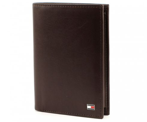 TOMMY HILFIGER Eton Wallet N/S with Coin Pocket Brown