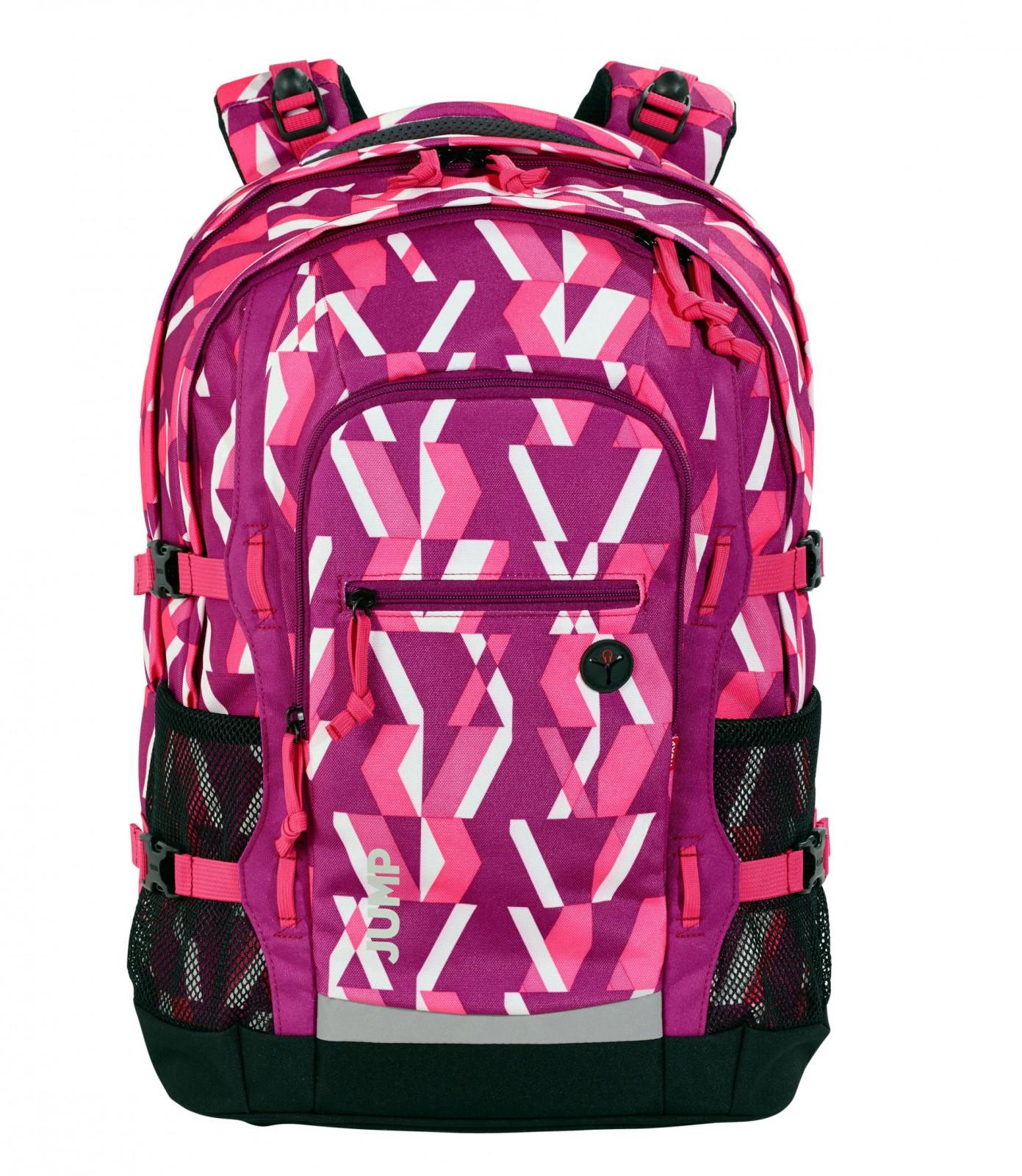 4you rucksack jump schulrucksack chequer pink. Black Bedroom Furniture Sets. Home Design Ideas