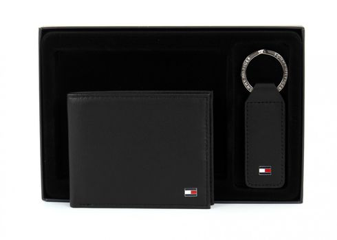 TOMMY HILFIGER Eton Mini CC Wallet Gift Box Black