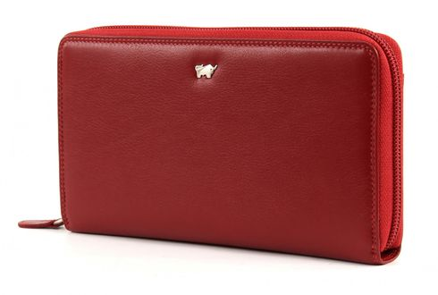 Braun Büffel Golf Zip Around Purse Red