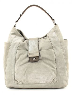 Marc O'PoloMetallic Cow Suede Hobo Bag L Light Taupe
