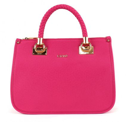 LIU JO Anna Shopping M Quadrata Dark Pink