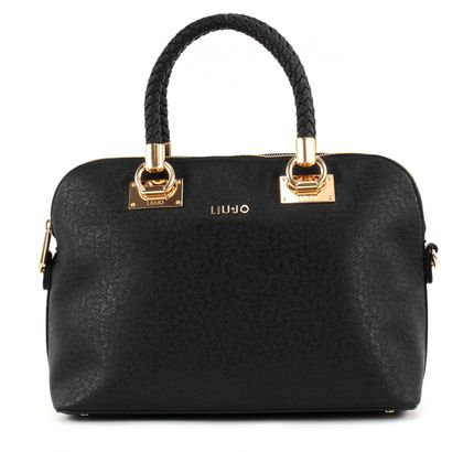LIU JO Anna Shopping M Nero / Light Gold