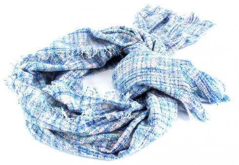 ESPRIT Space Dye Boucle Scarf Light Blue