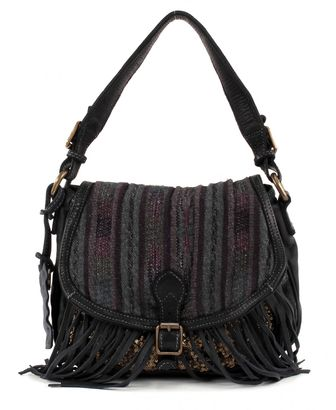 CATERINA LUCCHI Paillettes Satchelbag Black