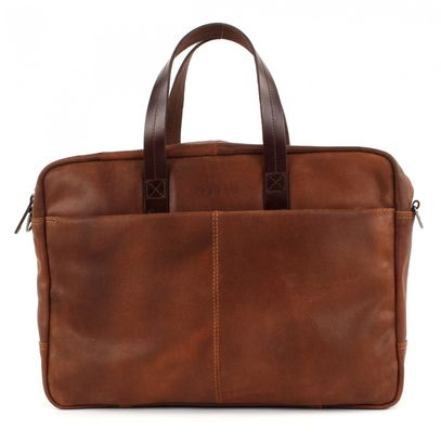bugatti Grinta Brief Bag Medium Cognac