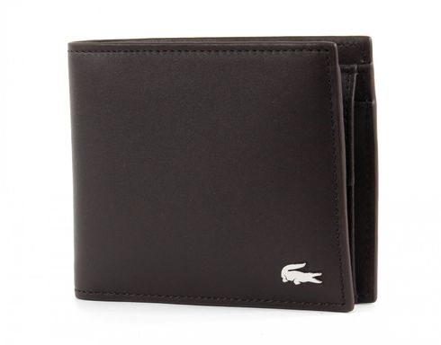 LACOSTE FG M Billfold & Coin Dark Brown