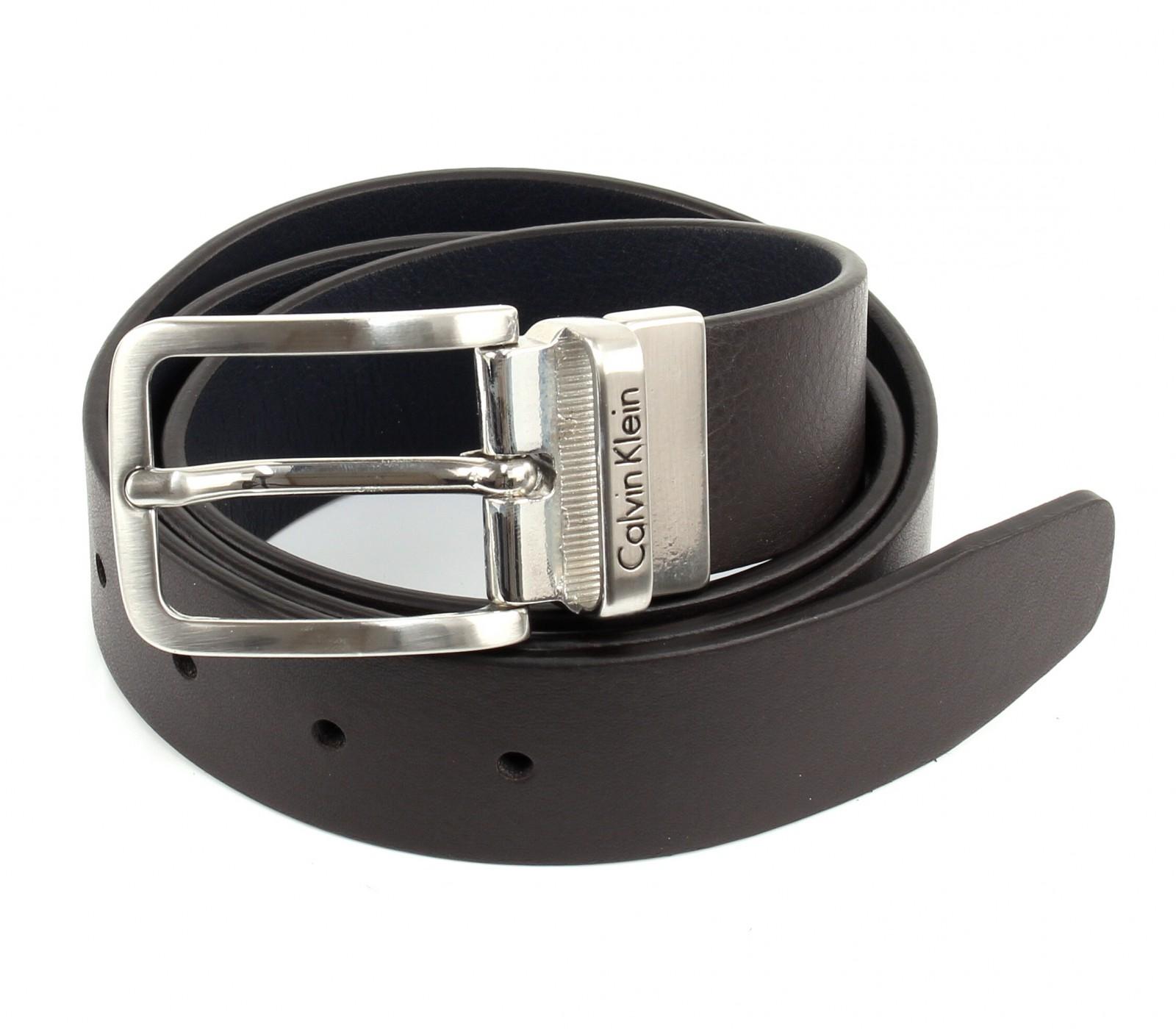 Calvin Klein Mino Reversible Belt W80 Brown / Navy
