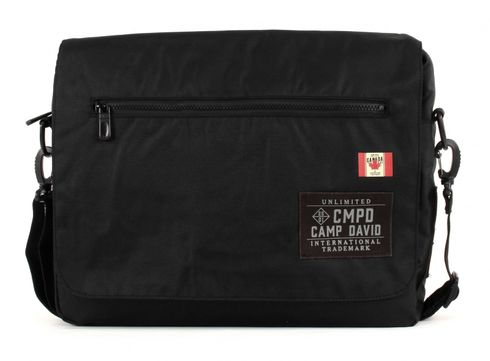 CAMP DAVID Clifton Messengerbag Black