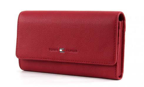 TOMMY HILFIGER Basic Leather Large E/W Wallet Scooter Red