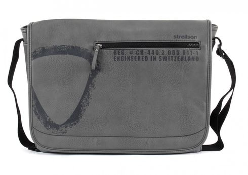 strellson Paddington Messenger LH Grey