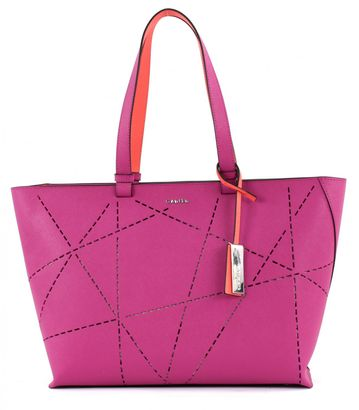 Calvin Klein Sofie Perforated Large Tote Berry / Arricot