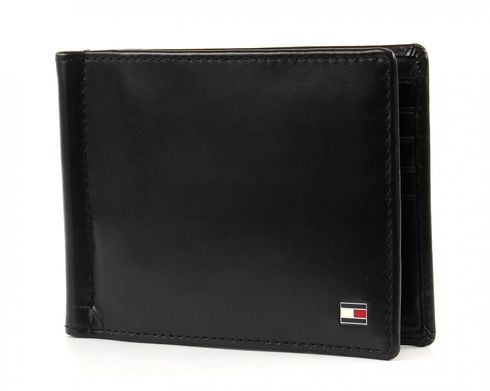 TOMMY HILFIGER Formal CC Wallet with Money Clip Black