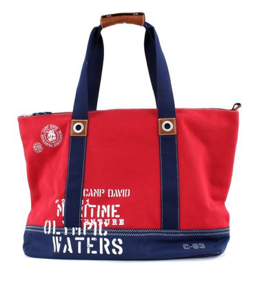 CAMP DAVID Deep River Shopper Red