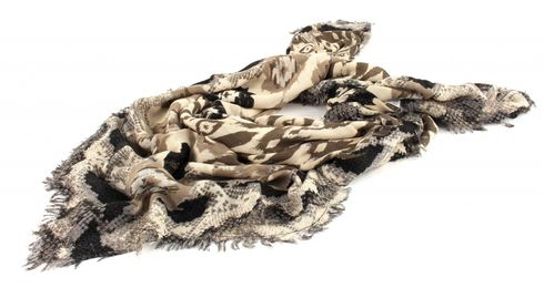 ESPRIT Ikat Square Scarf Light Taupe
