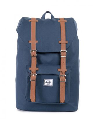 Herschel Little America Mid-Volume Backpack Navy / Tan