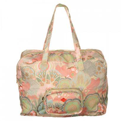 Oilily Spiro Flower Folding Carry All Peach Rose