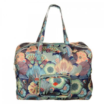Oilily Spiro Flower Folding Carry All Lagoon