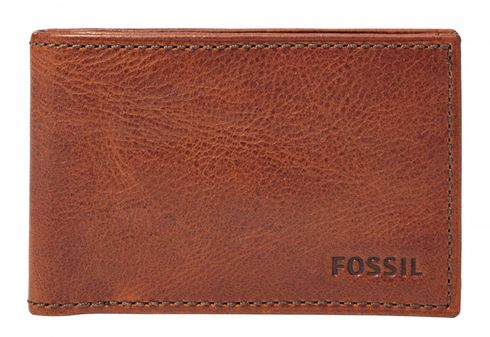 FOSSIL Conner Coin Pocket Bifold Cognac