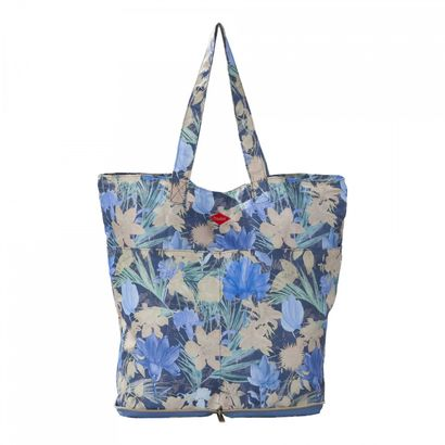 Oilily Flower Field Folding Shopper Blueberry