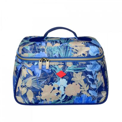 Oilily Flower Field L Beauty Case Blueberry