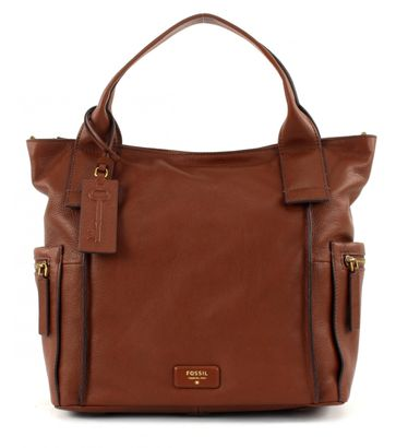 FOSSIL Emerson Satchel Brown