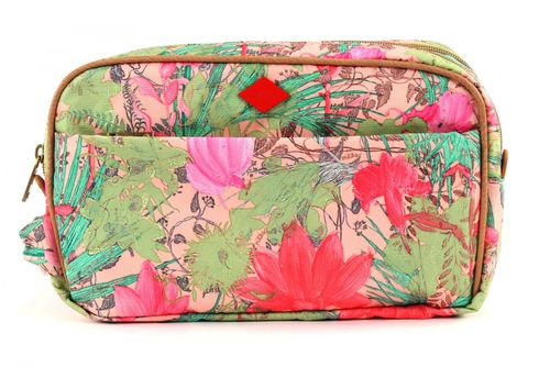 Oilily Flower Field Pocket Cosmetic Bag Melon