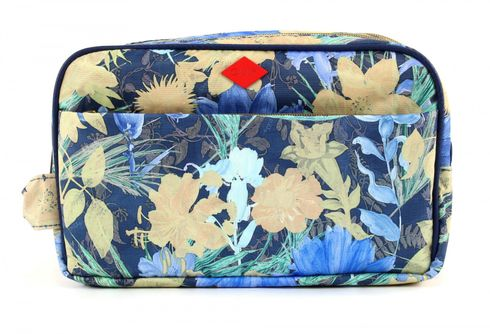 Oilily Flower Field Pocket Cosmetic Bag Blueberry