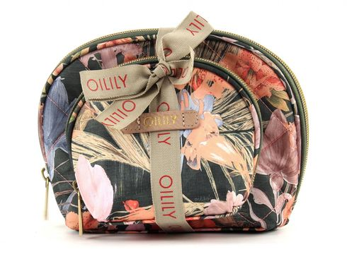 Oilily Flower Field Flat Cosmetic Bag Package Fig