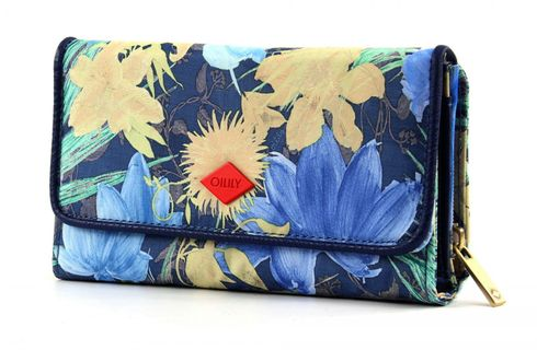 Oilily Flower Field L Wallet Blueberry