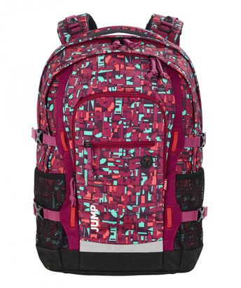 4YOU Jump Schulrucksack Geometric Red