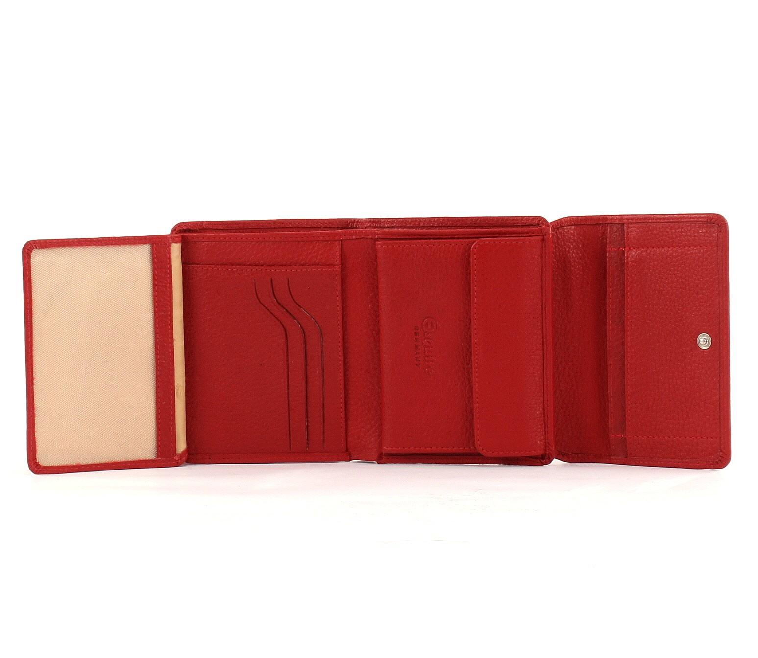 Esquire Primavera Ladies Purse M Geldbörse Portemonnaie Geldbeutel Leder Rot Red