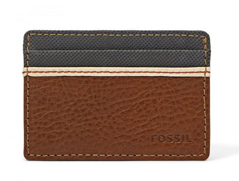 FOSSIL Elgin Card Case Brown