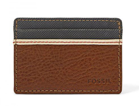 FOSSIL Elgin Card Case Brown