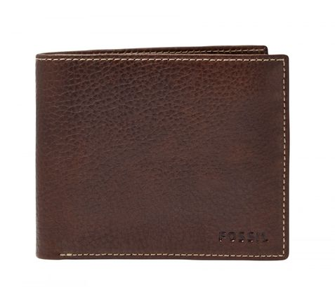 FOSSIL Lincoln Large Coin Pocket Bifold Brown