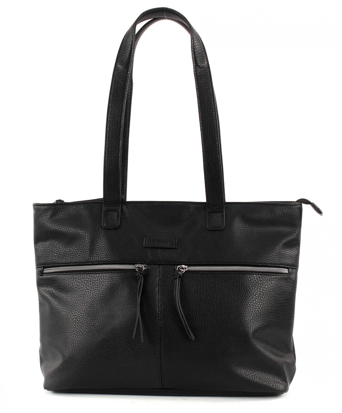 Details zu Tamaris GLAM Business Shopping Bag Tasche Schultertasche Damen Schwarz Neu