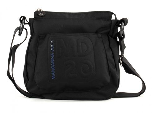 MANDARINA DUCK MD20 Small Crossover Vertical Hobobag Black