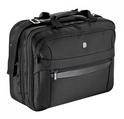 "WENGER Business Basic Triple Compartment Briefcase 17"" Black"