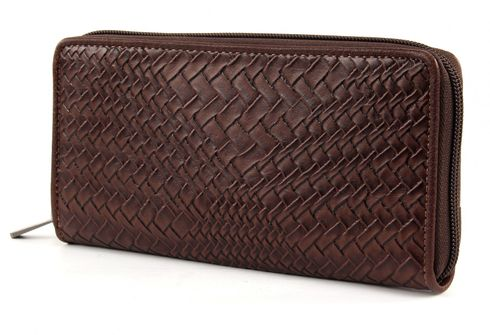 ESPRIT Denise Cash Zip Clutch Brown