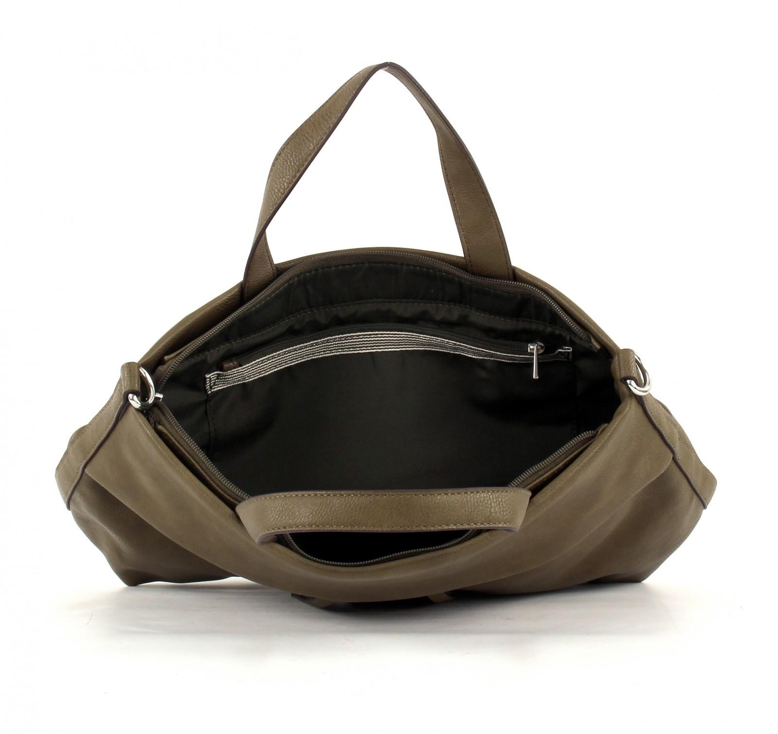 esprit fran city bag tasche handtasche umh ngetasche damen braun light khaki ebay. Black Bedroom Furniture Sets. Home Design Ideas