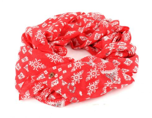 ESPRIT edc Printed Infinity Scarf Coral Red