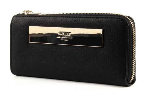 GUESS Shantal Slim Zip Wallet Black