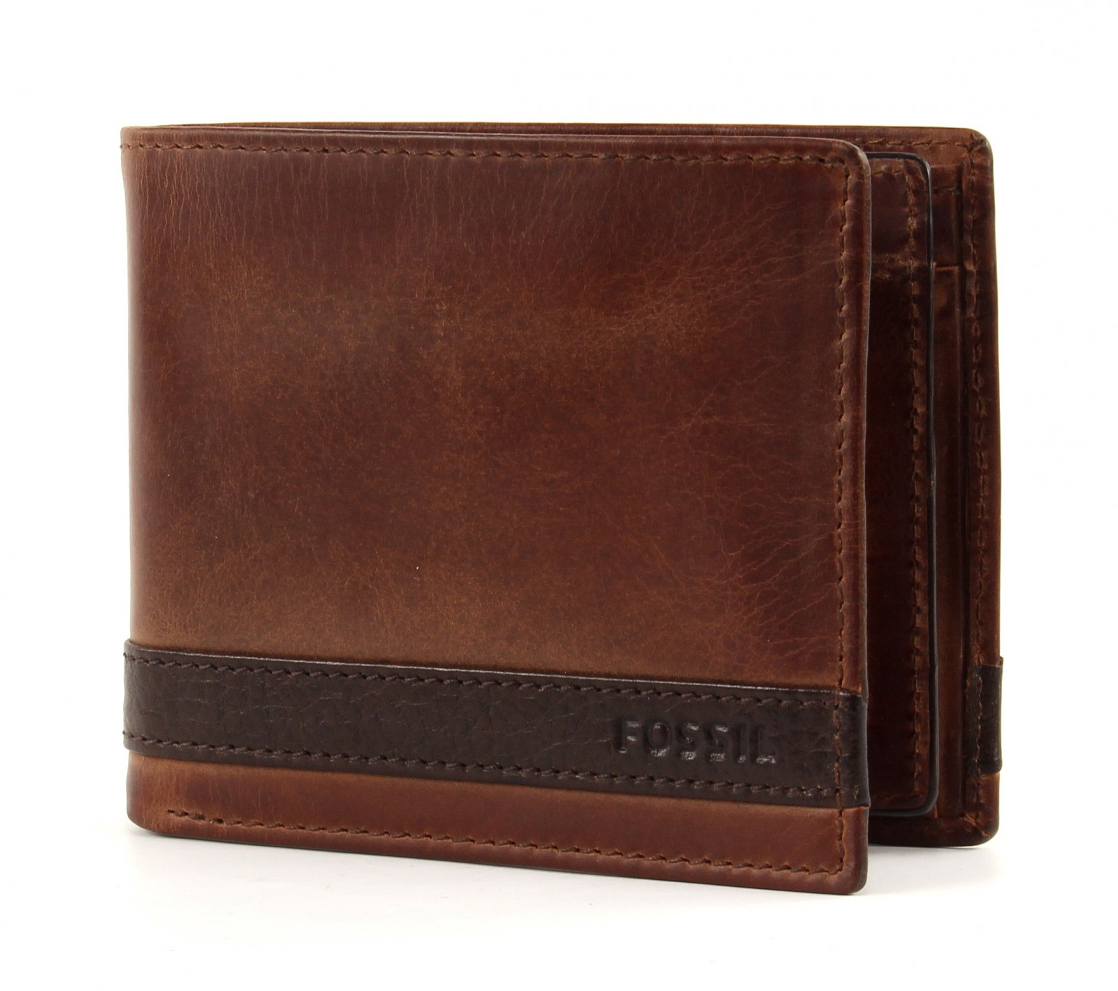 FOSSIL Quinn Large Coin Pocket Bifold Brown