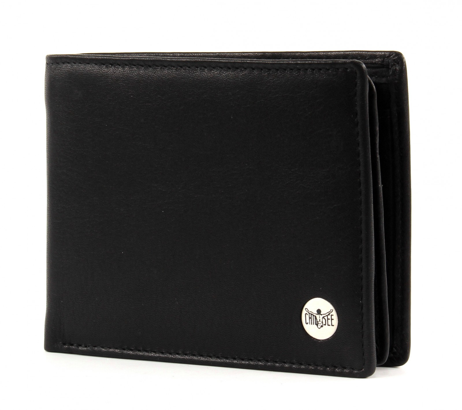 Black breast wallet with cross
