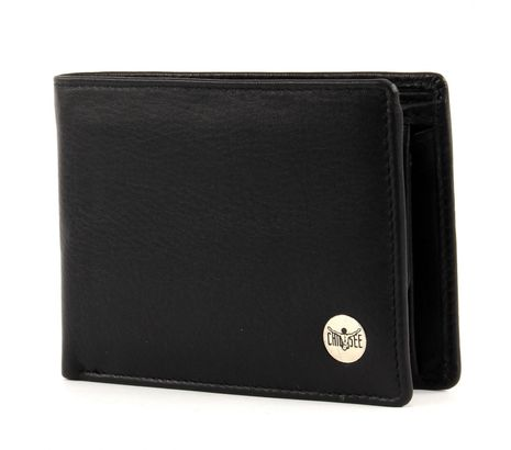 CHIEMSEE Jerome Leather Wallet Quer S Black