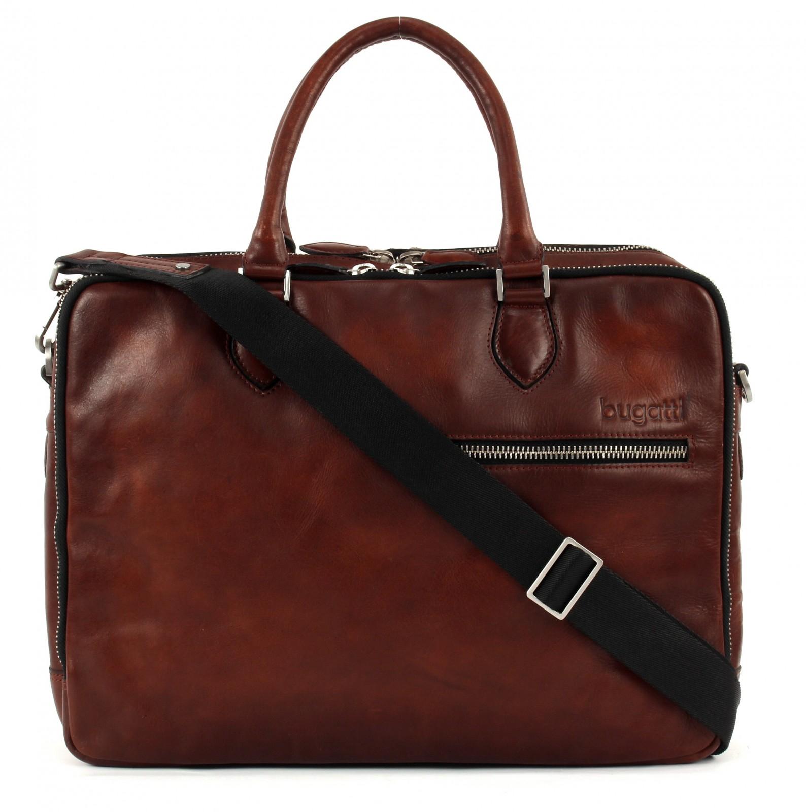 bugatti Domus Briefcase Cognac