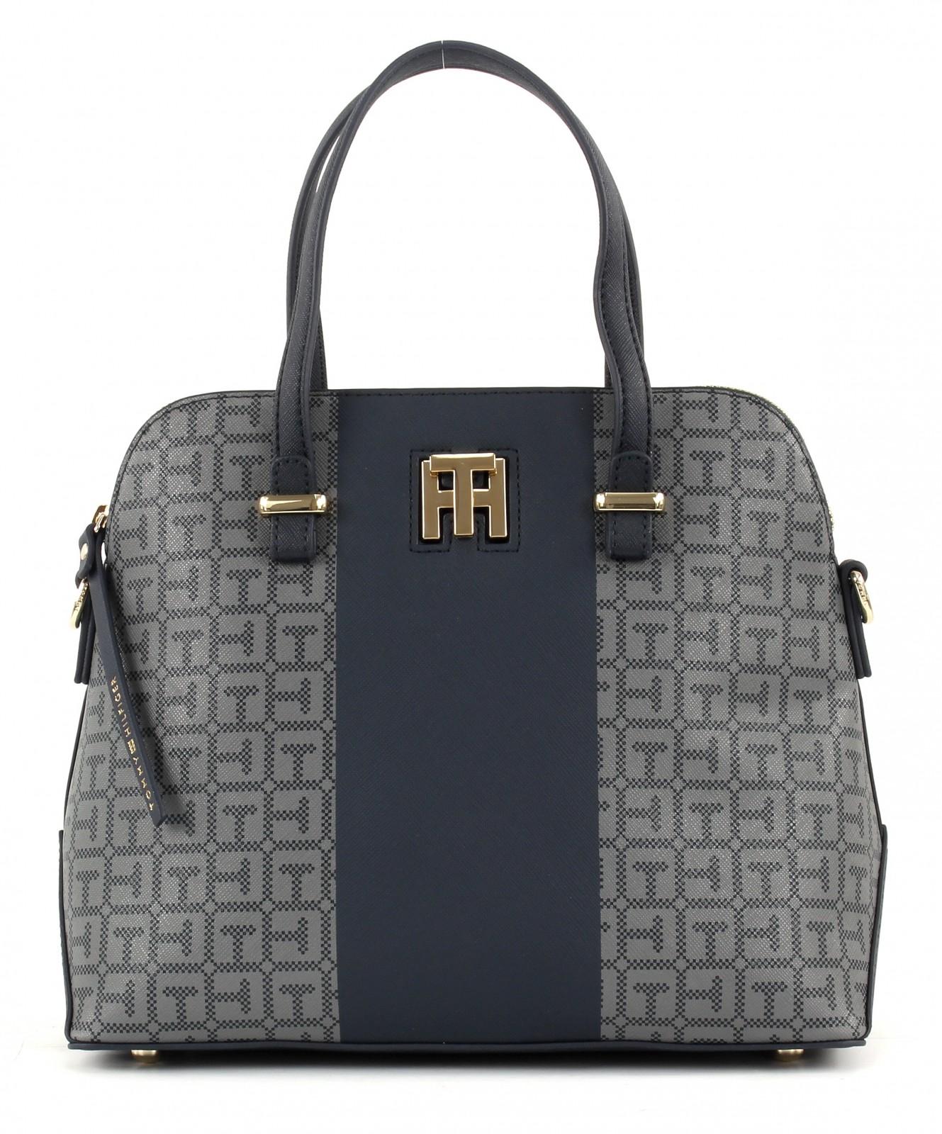 tommy hilfiger th twist medium satchel logo tasche. Black Bedroom Furniture Sets. Home Design Ideas